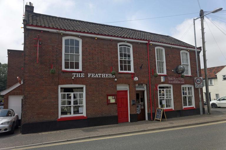 The Feathers pub Wymondham